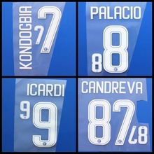 New Milan KONDOGBIA PALACIO ICARDI JOVETIC CANDREVA football number name font print, Hot stamping Soccer patches badges