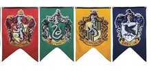 Harry Potter Party Supplies Institute College badge Flag Banners Boys Girls Kids Halloween Decoration Christmas Gift(China)