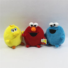 1 piece 15cm sesame street Plush ball Toys Elmo cookie Monster big bird Doll For kids Gifts&birthday(China)