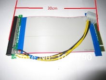 30cm PCI-E Express 16x to x16 Riser Cable with molex power supply for Video Card bitcoin miner(China)