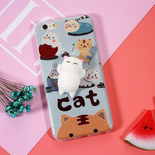 Squishy Mobile Phone Cases 3D Cute Phone Cover for iPhone 6s 6 6 Plus 7 7 Plus Case Marshmallow Soft Silicone Gel Shell Grey