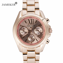 JAMEKER Rose Gold Quartz Watch Women Top Brand Luxury Famous Female Clock Wrist Watch 2017 Classic Wristwatch relogio feminino(China)