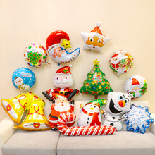 Santa Claus foil balloons merry Christmas party decoration helium balloon Christmas Tree big inflatable toy Xmas candy cane star(China)