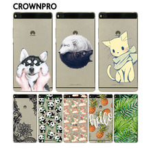 CROWNPRO P8 Lite Soft Silicon Huawei P8 Lite Case Cover Fashion Colorful Painted Back Protective Case Huawei P8 Lite Phone Cases