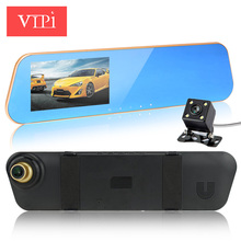 Newest car camera rearview mirror auto dvrs cars dvr dual lens recorder video registrator full hd1080p night vision dash cam