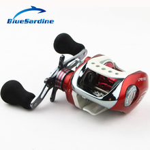 12+1 BB 6.3:1 New Baitcasting Reel Metal Red Fishing Reels Surf Bait Casting Fishing Tackle(China)