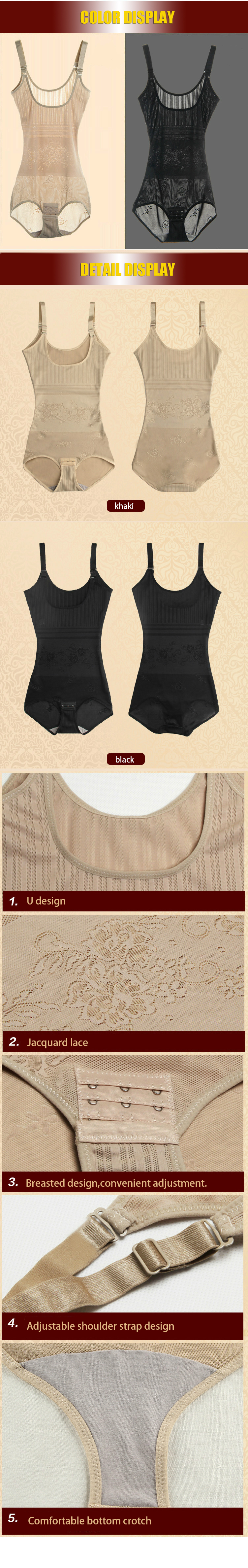 Women Post Natal Postpartum Slimming Underwear Shaper Recover Bodysuits Shapewear Waist Corset Girdle Black/Apricot Hot sale 7