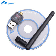 RSExplorer Mini Wireless Wifi Adapter 150Mbps 2dB Antenna USB Wifi Receiver Network Card 802.11b/n/g High Speed Wifi Adaptador(China)