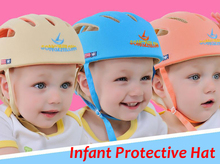 New baby safety helmet /Infant Protective Hat  toddler cap  anti-collision  adjustable  No Bumps1pcs