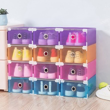 Thickened Drawer Shoes Organizer Clothing Shoes Storage Plastic Storage Box Modern Makeup Organizer Home Convenient Shoebox(China)