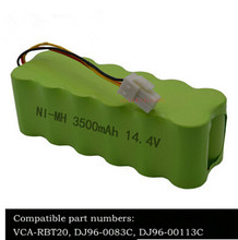14.4V 3.5Ah NI-MH Battery Pack For Samsung NaviBot SR88XX Series Vacuum Cleaner SR8840 SR8845 SR8855 SR8895 VCA-RBT20 Battery(China)