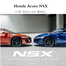 New 1:32 Toy Car Honda Acura NSX Metal Alloy Diecast Car Model Miniature Scale Model Sound and Light Model Car Toys For Children