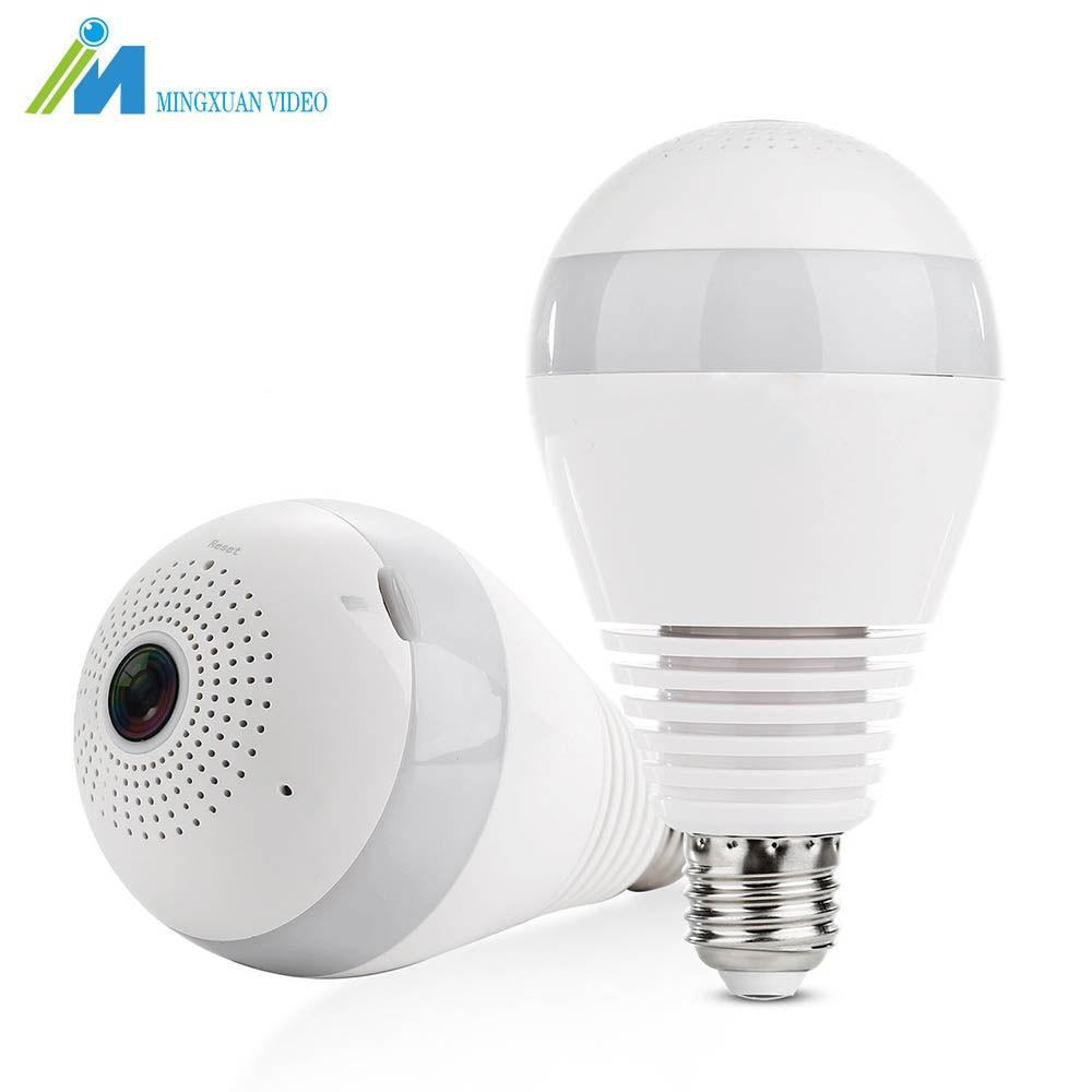MX 960P 360 degree Wireless IP Camera Bulb Light FishEye CCTV Panoramic 3D VR Camera 1.3MP Home Security WiFi Camera IP Cam<br>