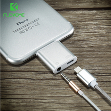 FLOVEME For iPhone to 3.5mm Audio Converter For iPhone 7 7 Plus Earphone Jack Aux Cable USB Stereo Headphone Splitter Adapter