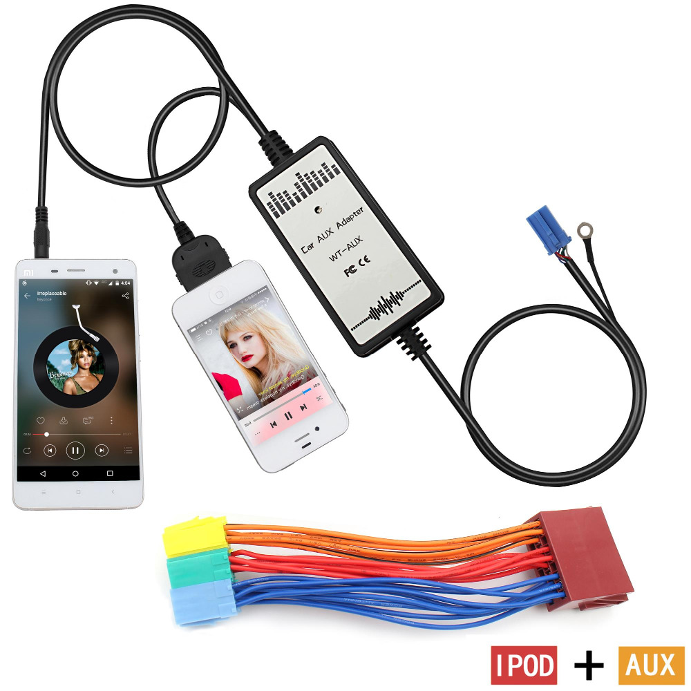 Moonet ipod 3.5mm interface Car CD MP3 Player AUX adapter for 1998-2000 ISO-Mini 1998-2001 Passat 1999-2002 Jetta ( KB006 )(China (Mainland))