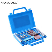 VORCOOL 12Pcs/Set Car Van Motorcycle Bike Emergency Heavy Duty Tubeless Tire Puncture Repair Kit Plug Set Tyre Repair Kit(China)
