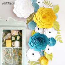 MEIDDING-2pcs diy Paper Flower Backdrop, Wedding Backdrop, 20cm Paper Flowers Kid's Birthday Party Wall Hanging Decor
