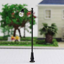 evemodel 5PCS  Model Railroad train Lamp posts Yard street light Lamps OO/HO scale LQS28 model train 1/87 railway modeling