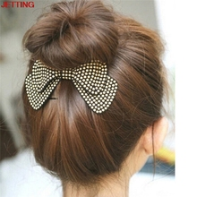 JETTING-4 Colors Bow Hairpins New Designer All Match Hair Barrettes Women Hair Accessories