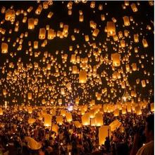 Wishing Lamp Paper Chinese Lanterns Flying Sky Lanterns wedding Hen party decoration supplies(China)