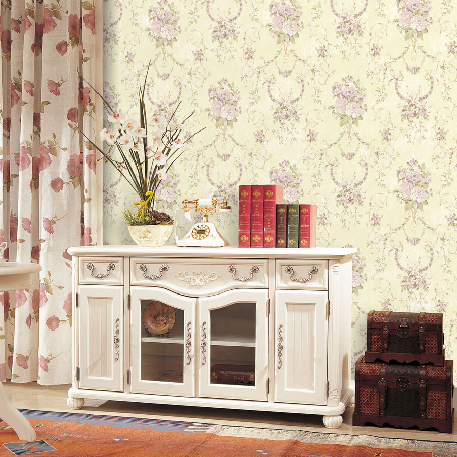 Vintage Floral Wallpaper For Living Room Vintage Embossed Wallpaper Brick Wall Roll Modern 3d Planet Pink Flowers Wallpaper Roll<br>