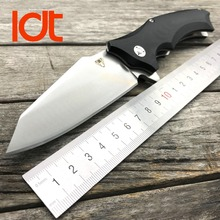 LDT Large Snake XJ10 Folding Knife EDC Tools D2 Blade G10 Handle Ball Bearings Tactical Knives Camping Knife Survival Outdoor