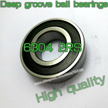 20mm Diameter Deep groove ball bearings 6304 2RS 20mmX52mmX15mm ABEC-5 Double rubber sealing cover CNC,Motors,Engines,AUTO