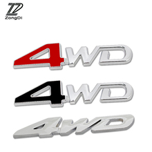 ZD 1Pc Car 3D Metal Sticker 4WD 4X4 for BMW Toyota Ford Renault Opel Kia VW Honda Mercedes Mazda Peugeot Audi Volvo Accessories(China)