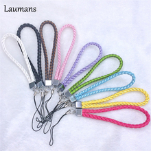 Laumans 50pcs PVC wrist hand cell phone mobile chain straps keychain Charm Cords DIY Hang Rope Lanyard neck Free shipping rope