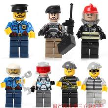 Policemen Thief Bandits weapons gun original Block toys swat police military army accessories Compatible lepin mini figures