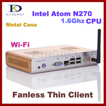 KINGDEL Thin Client, PC Station, PC Terminal with Intel Atom N270 1.60Ghz, 32 Bit, WIFI, HDMI support Windows XP, 3D games