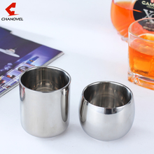 2016 Hot Coffee Mugs Double Layer Tea Cup Wine Cup Scald-proof Tea Mug Stainless Steel Cup Drinkware Kitchen Tools(China)