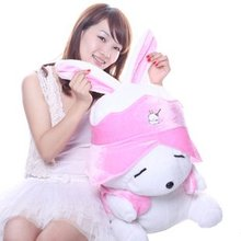 Candice guo! Super cute plush toy stuffed toy doll lover rabbit MashiMaro blue/pink good for gift 60cm 1pc(China)