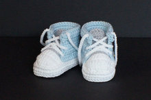 Baby Boys First Walkers Handmade Crochet Sports Tennis shoes Infant Toddler Knitted Sneakers Newborn Crib Booties Baby boy Shoes(China)