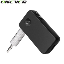 Onever Bluetooth Receiver Car Kit 3.5mm Stream A2DP Wireless AUX Audio Music Receiver Adapter Handsfree with Mic For Phone MP3(China)