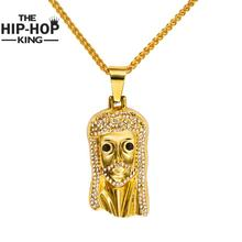 Women Men Jesus Necklace High Quality Gold Color Hip Hop Necklace Fine Statement Holiday Accessories