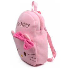 2017 New Arrival Children Plush Backpack Cartoon Bags Kids Baby Backpack pink Bags Hello Kitty Bags Kindergarten Girls Baby(China)