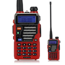 Baofeng UV-5R Plus Dual Band Two Way Radio Ham Walkie Talkie Pofung 5W 128CH UHF VHF FM VOX Dual Display Qualette Red(China)