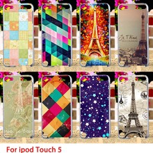 Soft TPU Cases For Apple iPod Touch 5 5th 5G touch5 Case Effiel Towers Hard Cell Phone Cover Housings Bags Sheaths Skins Hoods