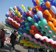 Free shipping 5000pcs/lots Long spiral Latex screw Balloons for Festival Party Decoration(Random send various colors)
