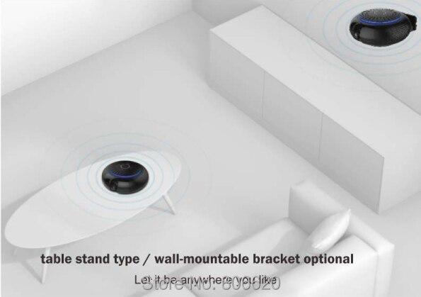 Panoramic 180 Degree 1080P HD Wifi IP Camera Built-in 5W Hifi System Bluetooth Speaker Internet Music byFree App Remote Control_F6