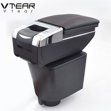 Vtear For Chevrolet Lova armrest box central Store content box with cup holder interior products car-styling accessory 06-10(China)