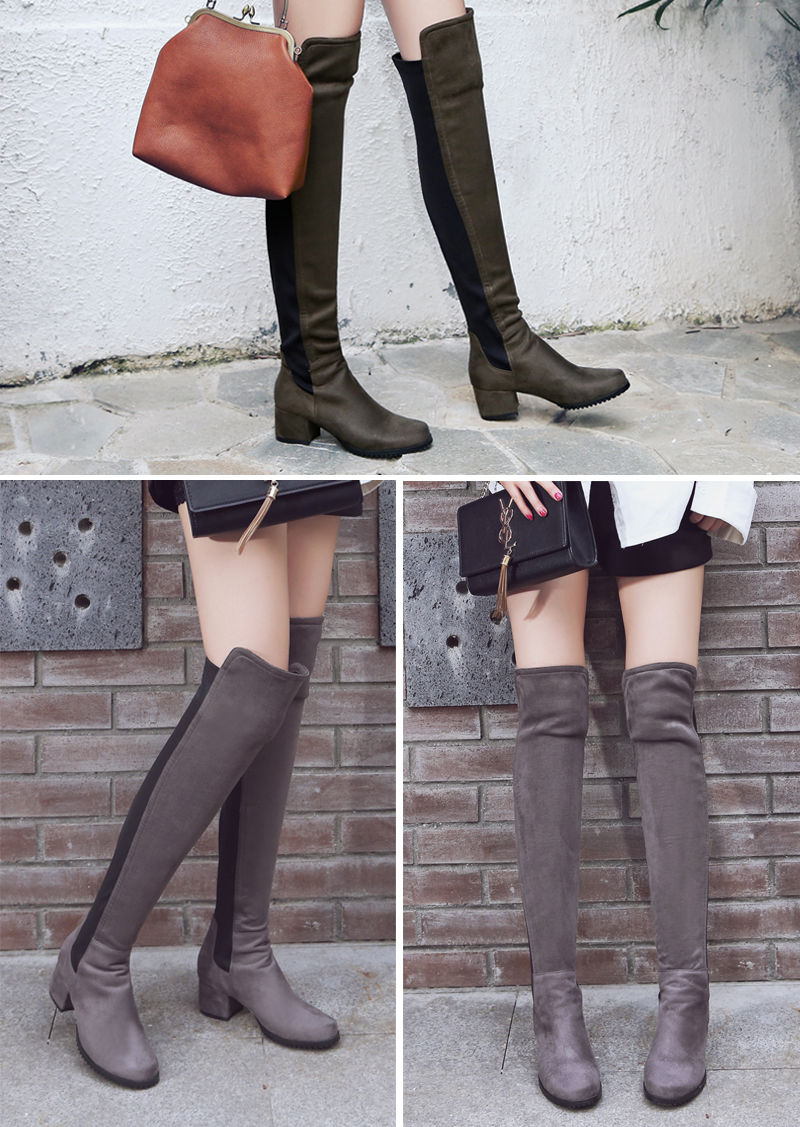 thick heel boots