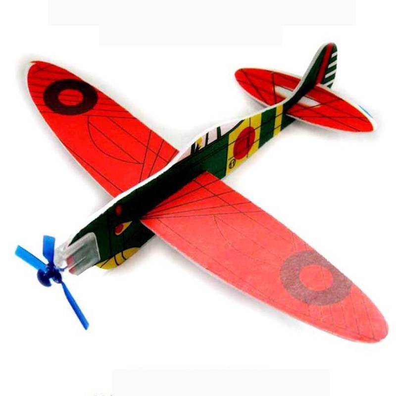 12Pcs Polystyrene Flying Glider Planes Helicopter Fillers Party Kids Toys