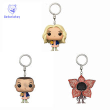 Keychain stranger things DEMOGORGON and Eleven with eggos Toys Action Figure Collectible Model Vinyl Dolls Keyring Children Gift(China)