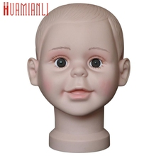 Training Mannequin 2017 cosplay Child Mannequin Manikin Head Model For Wig Hat Mould Show Stand Display drop ship 17aug29(China)