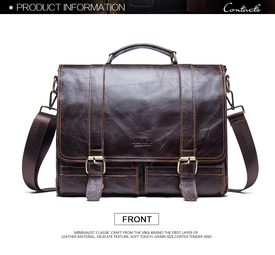 Men/'s Business Briefcase Men/'s retro shoulder bag leather computer bag