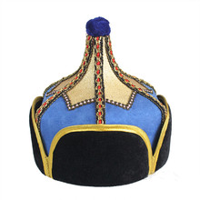 chinese mongolia hat for children national hat kids ancient prince cap halloween cosplay hat prince cosplay