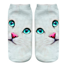 Hot Sale Animal Character Ventilate Polyester 3D Print Machine Washable Stretchy Ankle Socks Wholesale