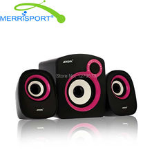 Merrisport Speakers, 2.1 USB Wired Stereo Satellite Speakers with Subwoofer & Remote for Phone MP3, PC & HDTV Home Theater Black